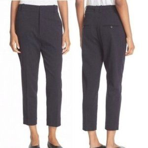 VINCE Gray Wool Slim High Rise Dress Pants 6